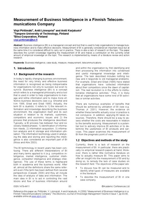 business intelligence research paper business intelligence research papers