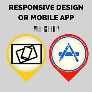 responsive design vs app benefits of responsive web design vs creating a mobile app