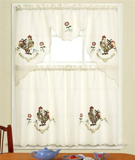 chicken curtains kitchen 20 useful ideas of rooster kitchen curtains as part of
