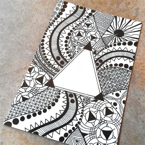 pattern design drawing triangle pattern drawing photo art print 4 x 6 drawings