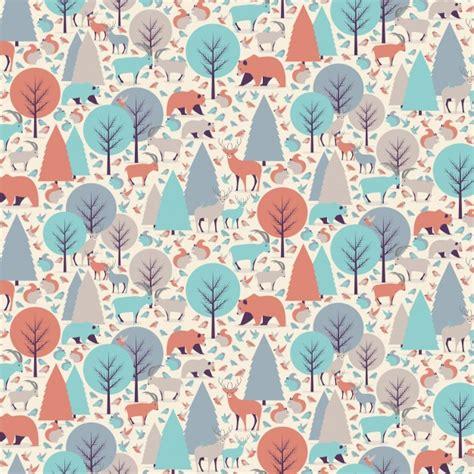 background pattern mountain mountain animals seamless pattern background vector