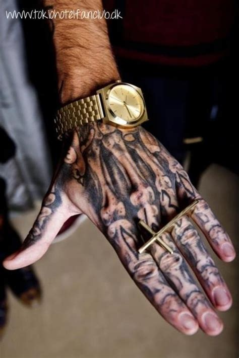 bone hand tattoo bill kaulitz s bb bone