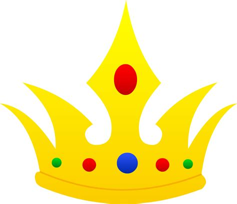 clipart crown pointed golden crown design free clip art