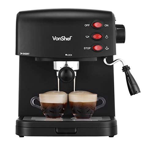 Coffee Maker Malaysia vonshef 15 bar espresso coffee maker machine create espressos lattes cappuccinos more
