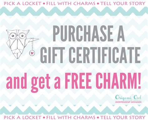 coupons for origami owl origami owl gift certificates independent designer