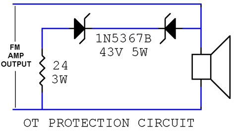 protection circuit zener diode speaker cabinet a b switching