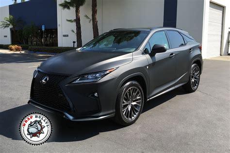 lexus cars back lexus rx matte black auto wrap wrap bullys