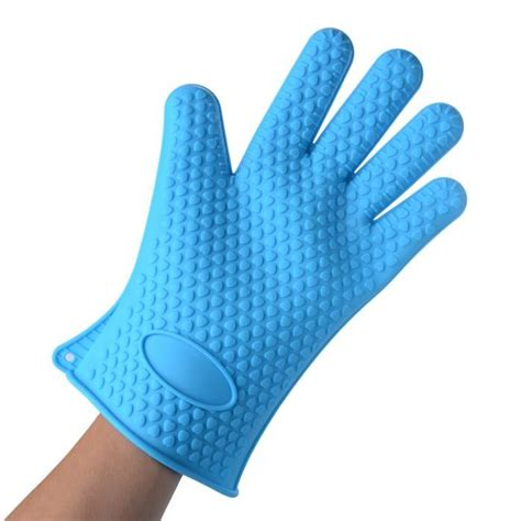 gant de cuisine silicone anti chaleur bleu achat vente