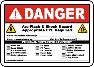 Arc Flash Labels Arc Flash Warning Labels Arc Flash Label Template