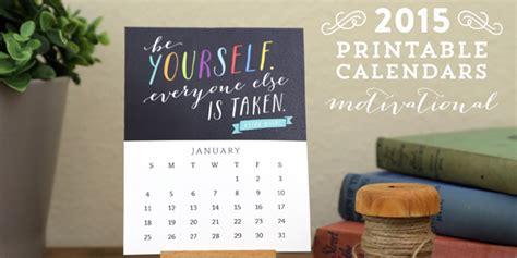 Calendar Quotes Free Printable Motivational Desk Calendar