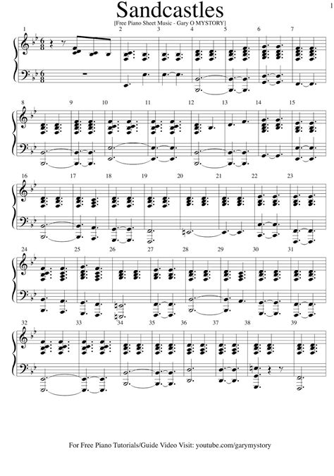 tutorial piano your song beyonce sandcastles free piano sheet music easy piano