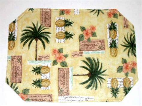 Palm Trees Pineapples Placemats Tropical Kitchen Decor Palm Tree Kitchen Decor
