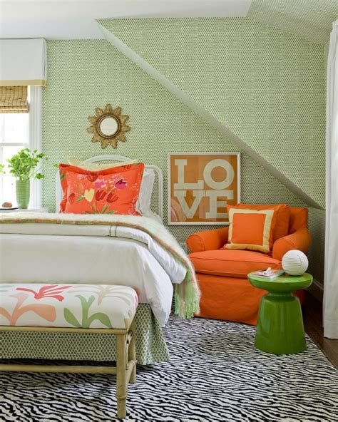 orange and green bedroom spruce up your bedroom with pantone s 2015 color palette brit co