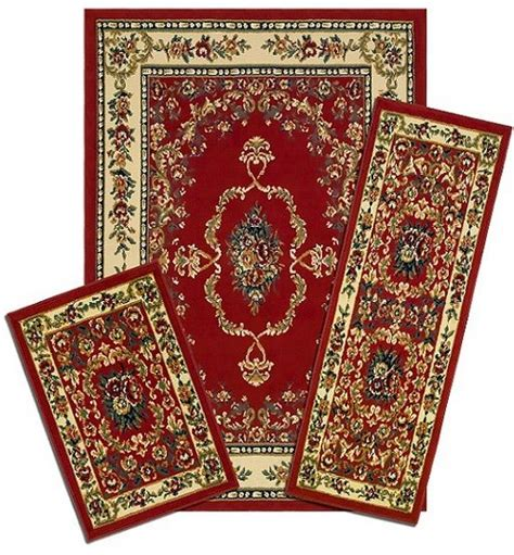 Area Rugs And Runner Sets Traditional Accent Mat Runner Area Rug 3 Set
