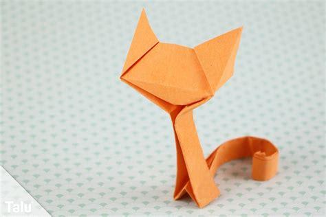 Mit Origami - origami katze basteln anleitung zum falten aus papier