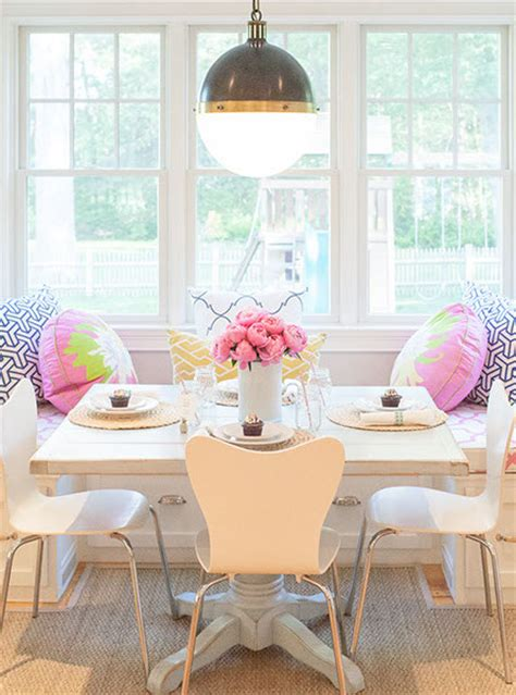 window seat banquette contemporary dining room delicious designs