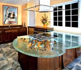 kitchen countertops ideas glass tops for cool and unusual kitchen designs from thinkglass digsdigs