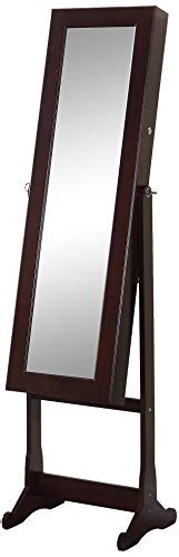 espresso jewelry armoire cheval mirror artiva usa espresso wood finish free standing cheval