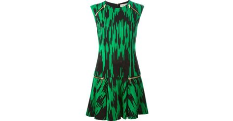Ikat Pinggang Michael Kors Ori michael michael kors digitized ikat print dress in black lyst