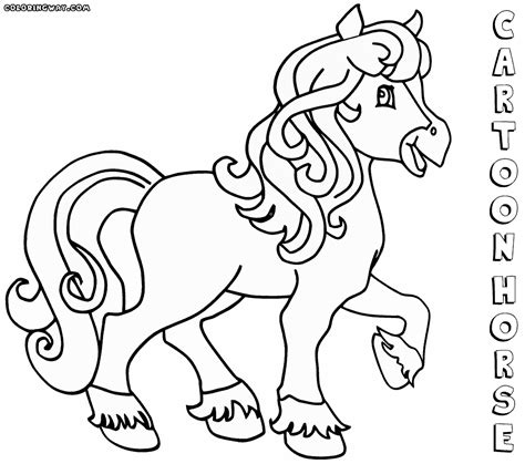 coloring pages of cartoon horses cartoon horse coloring pages coloring pages to download