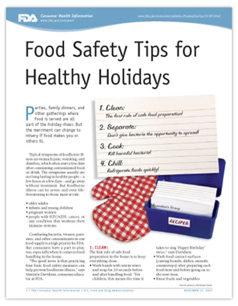 Healthy Kitchen Tips by Food Safety Tips For Healthy Holidays