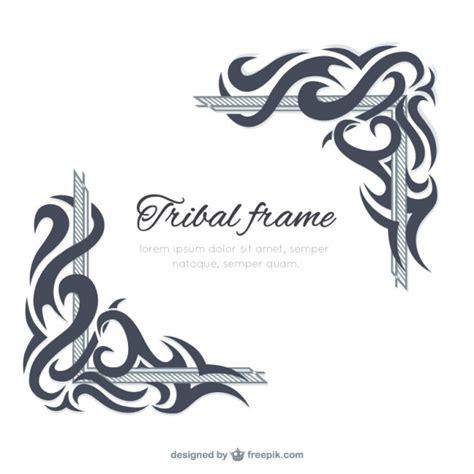 cornici tribali plantilla de marco tribal descargar vectores premium