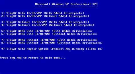 cara membuat usb bootable windows xp sp3 adddgawerd tinyxp rev09 mediafire windows xp sp3