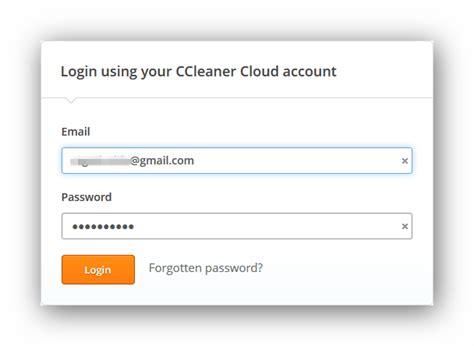 ccleaner cloud login ottimizzare il pc via internet ora si pu 242 con ccleaner cloud