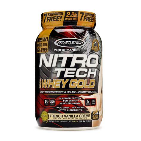 Muscletech Nitrotech Gold 5 5lbs muscletech nitro tech 100 whey protein gold vanilla creme 2 5 lbs ebay