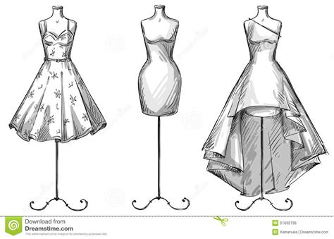 design mannequin template set of mannequins dummies with dresses fashion