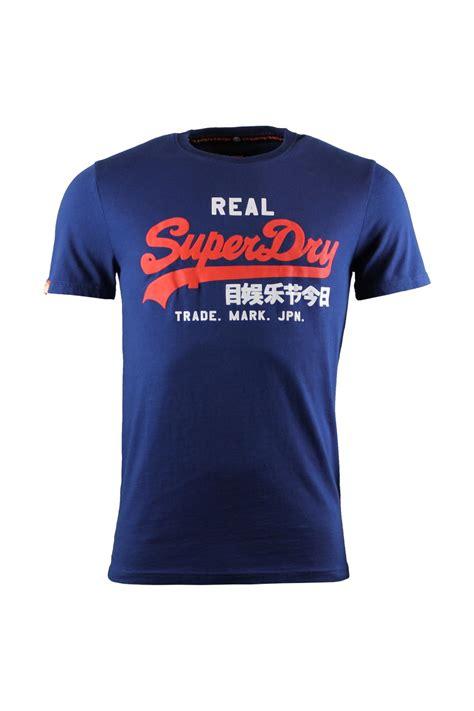T Shirt Kaos Deus Logo Depan Aja superdry vintage logo duo entry t shirt supermarine navy superdry from thirtysix uk