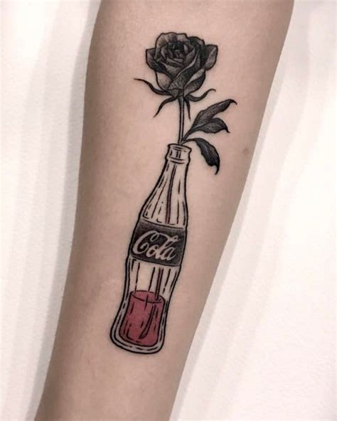 coca cola tattoo coca cola bottle and tattoogrid net
