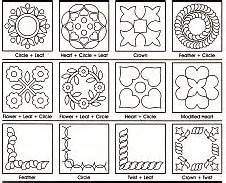 free motion templates finish with free motion quilting or continuous quilting