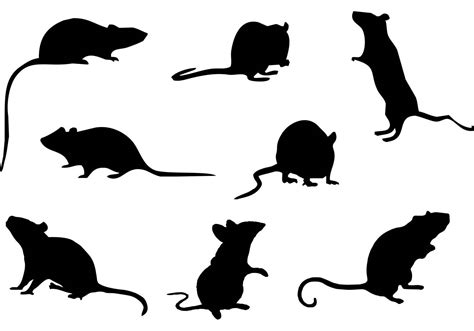 silhouette vector mouse silhouette