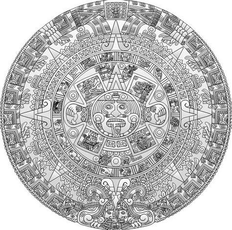 calendario azteca para colorear calendario azteca piedra del sol grises 091114 flickr