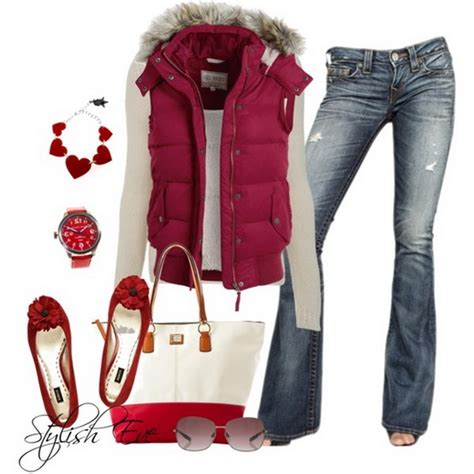 style eve clothes pink winter 2013 outfits for women by stylish eve