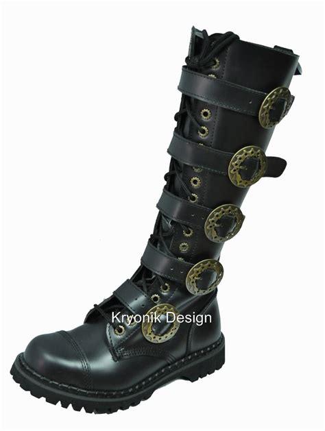 demonia boots mens demonia steam 20 steunk black leather knee
