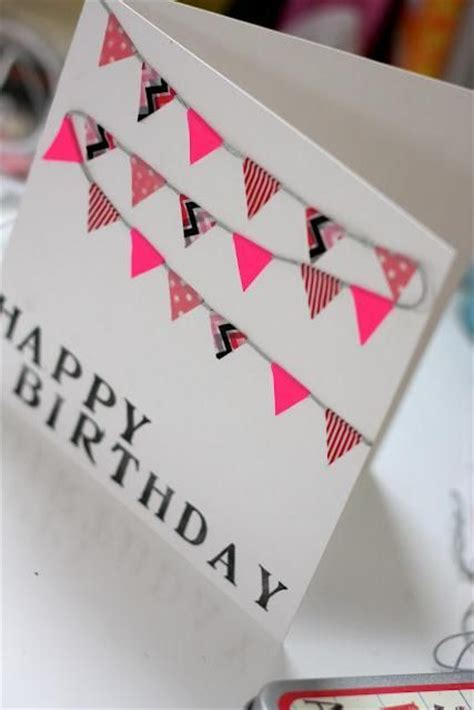 How To Make Handmade Greeting Cards For Boyfriend - easy washi greeting card diy birthday cards
