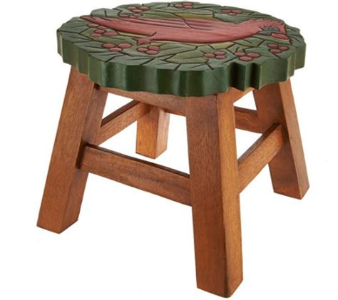 Plow And Hearth Stool plow and hearth wooden carved stool qvc