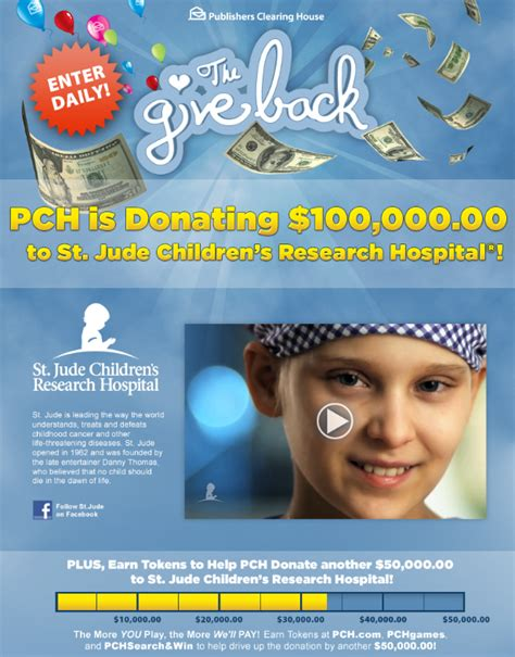 Pch Donations - the giveback is here and we need your help to donate to st jude children s research