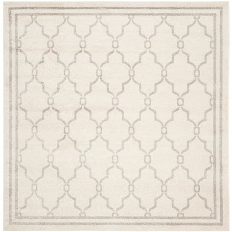 7 ft square area rugs safavieh amherst light gray ivory 7 ft x 7 ft indoor outdoor square area rug amt414b 7sq the