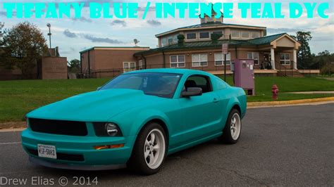 teal green car tiffany blue mustang intense teal plastidip dip your car