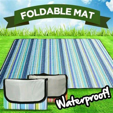 Harga Tikar Lipat Untuk Piknik tikar piknik lipat motif waterproff ukuran 180 215 200