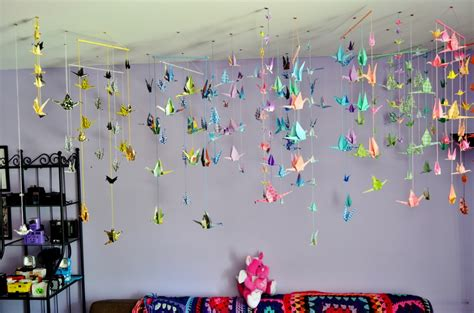 monthly diy hanging origami paper cranes citizen erased