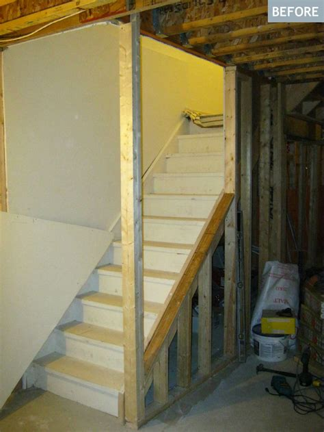 Basement Stairs Finishing Ideas Best 25 Open Basement Stairs Ideas On Pinterest Basement Staircase Staircase To Basement And