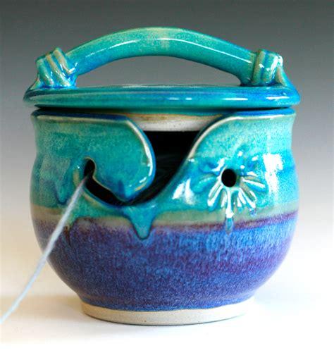 Coffee Mug Handle by Kitty Proof Yarn Bowl Handmade Ceramic Yarn Bowl In By