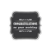 Wedding Wishes Labels by Congratulations On Your Wedding Vector Image 1791270