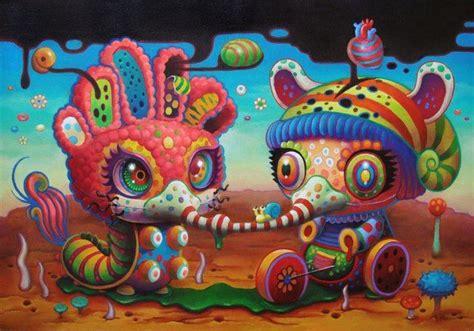 imagenes psicodelicas y surrealistas a psychedelic pop surrealism painting by yoko d holbachie