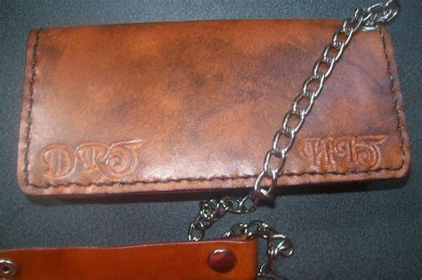 Handmade Biker Wallet - buy a handmade custom leather biker wallet with initials