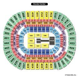 Honda Center Seat Map Honda Center Anaheim Ca Seating Chart View